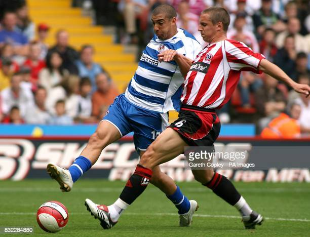 Reading's James Harper and Sheffield United 's Phil Jagielka