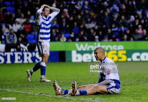 Reading's James Harper rues a missed chance during the CocaCola Championship match at Madejski Stadium Berkshire