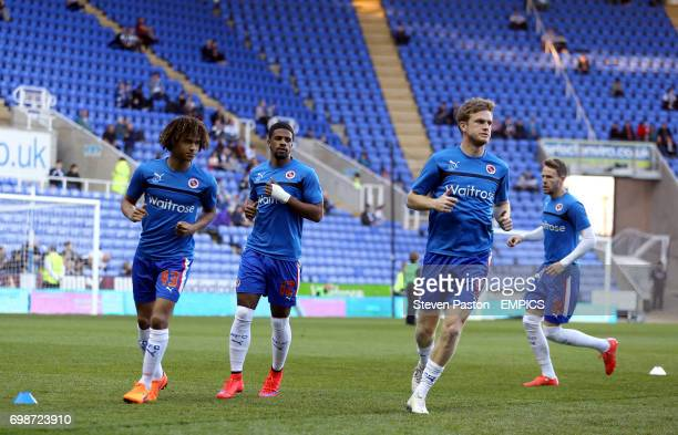 Reading's Nathan Ake Garath McCleary and Alex Pearce during the warm up before the game