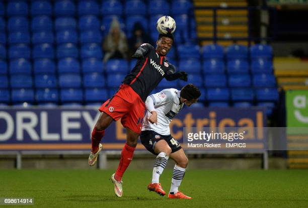 Reading's Nathaniel Chalobah battles for the ball with Bolton Wanderers Zach Clough