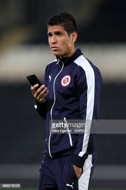 Reading's Paolo Hurtado on the pitch before the match