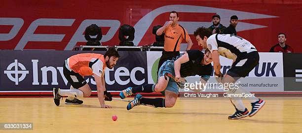 Reading's Tom Carson scores his sides fourth goal during the Maxifuel Super Sixes Mens SemiFinal match between East Grinstead and Reading at Wembley...