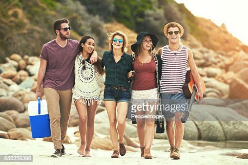 Ready for a day on the beach : Stockfoto
