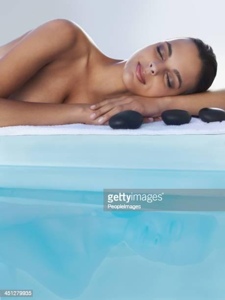 Bereit für meine hot-stone-massage