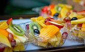 Ready to eat fresh tropical food salad, Hawaii, USA