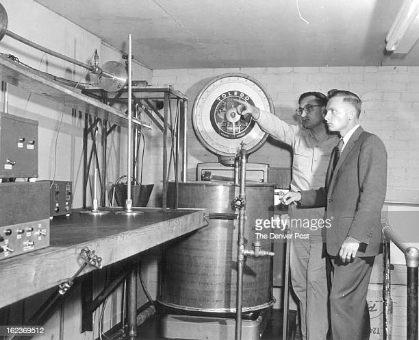 NOV 5 1957 Ready To Operate This special installation has been completed in the CSU hydraulic lab to test flow meters in the Martin Co's ICBM...