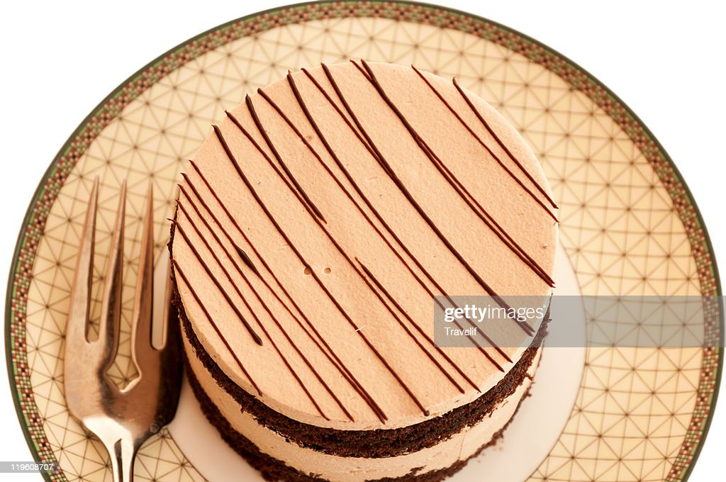 Ready to party - tiramisu cake on a plate : Stock Photo
