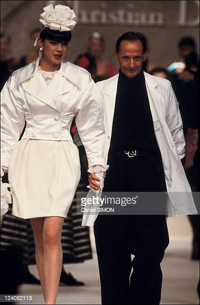 Ready to wear Fall Winter Fashion show 88 89 in Paris France in March 1988 Christian Dior collection Marc Bohan
