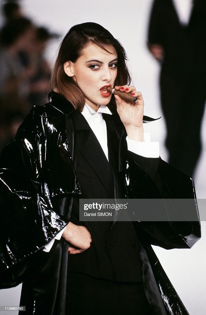 Ready to Wear Spring/Summer 1982 In Paris France In October 1982Catwalk fashion model Ines de la Fresange on Ready to Wear Spring/Summer show October...