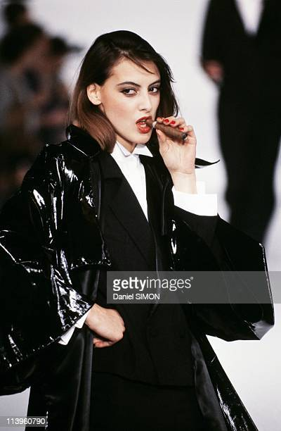 Ready to Wear Spring/Summer 1982 In Paris France In October 1982Catwalk fashion model Ines de la Fresange on Ready to Wear Spring/Summer show October...