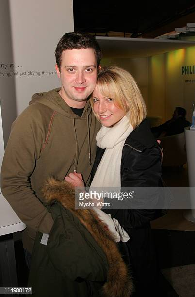 Reair Graynor and Eddie Kaye Thomas during 2007 Park City Philips Lounge at Village at the Lift Day 3 at Philips Lounge in Park City Utah United...