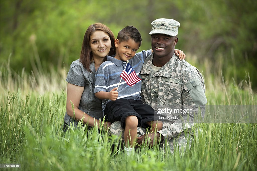 Real American Military Family : Stock Photo