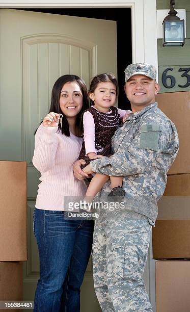 Real American soldier & Family Moving into New Home