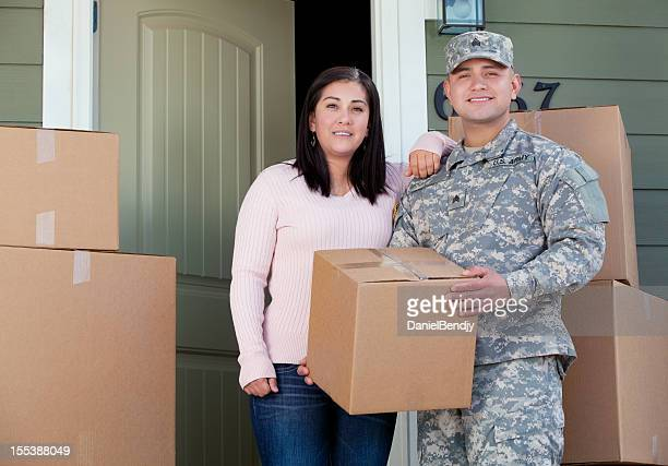 Real American soldier & Wife Moving into New Home