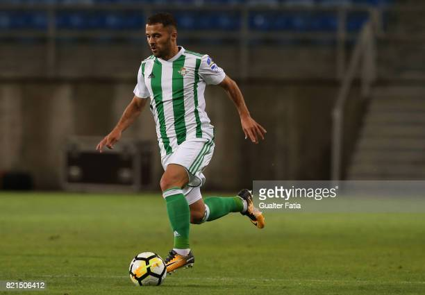 Real Betis defender Riza Durmisi in action during the Algarve Cup match between SL Benfica and Real Betis at Estadio Algarve on July 20 2017 in Faro...