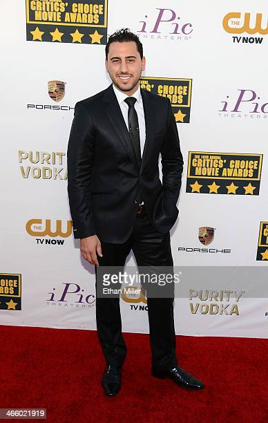 Real estate agent and television personality Josh Altman attends the 19th Annual Critics' Choice Movie Awards at Barker Hangar on January 16 2014 in...
