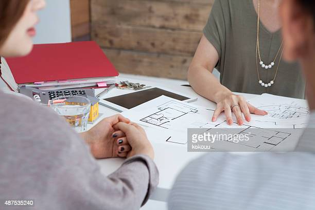 Real estate agent to explain a couple