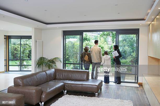 Real Estate Agent with Family in New Home