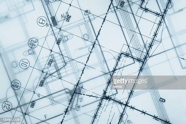 Real Estate Blueprint-Detailarbeit, Bau und Architektur Industrie Design Bericht