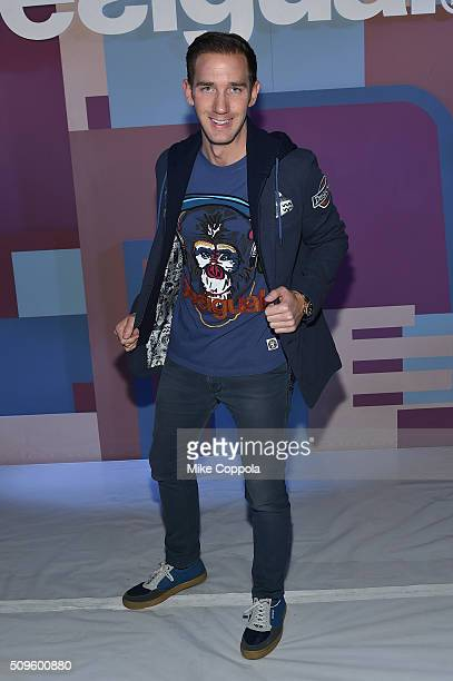 Real estate broker Marcel Remus attends Desigual fashion show during Fall 2016 New York Fashion Week The Shows at The Arc Skylight at Moynihan...