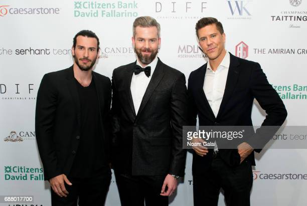 Real estate brokers Steve Gold Ryan Serhant and Fredrik Eklund attend Ryan Serhant Hosts 'Million Dollar Listing New York' Season 6 New York Premiere...