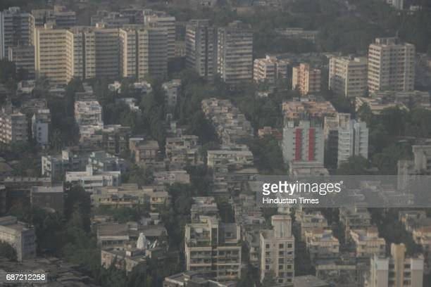 Real Estate Building Aerial View of Mumbai Housing