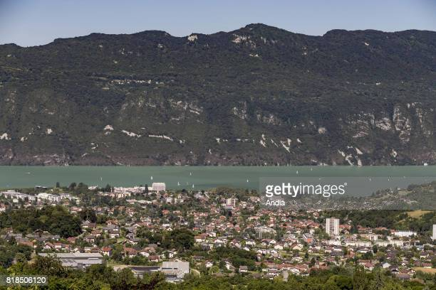 Real estate buildings and houses in AixlesBains view of the city and Lake Bourget