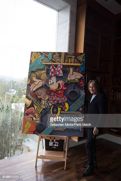 Real estate developer Mohamed Hadid is photographed at his Le Belvedere mansion for Paris Match on January 14 2016 in Los Angeles California