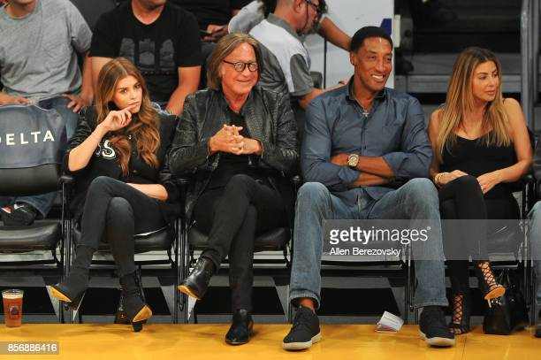 Real estate entrepreneur Mohamed Hadid and fiance Shiva Safai go on a doubledate with former NBA player Scottie Pippen and his wife Larsa Younan by...