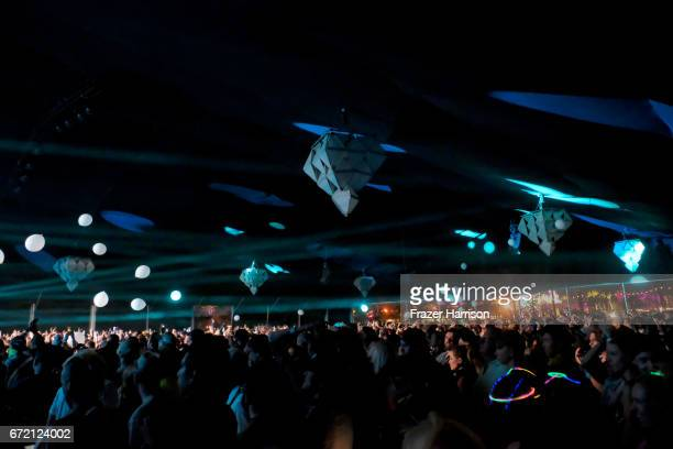 Real Estate performs at the Gobi Tent during day 3 of the 2017 Coachella Valley Music Arts Festival at the Empire Polo Club on April 23 2017 in Indio...