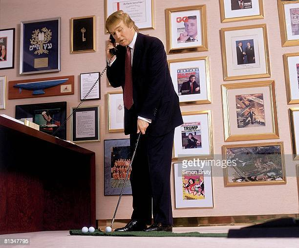 Real Estate Portrait of Donald Trump putting in office New York NY 5/29/1998