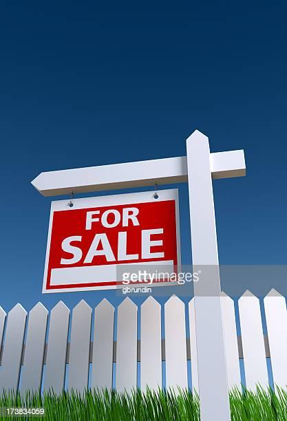Schild von Immobilienmakler