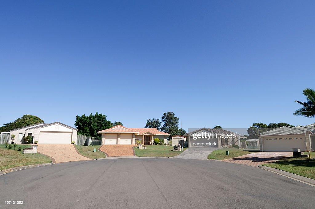 Real Estate: Suburban Cul-de-sac : Stock Photo