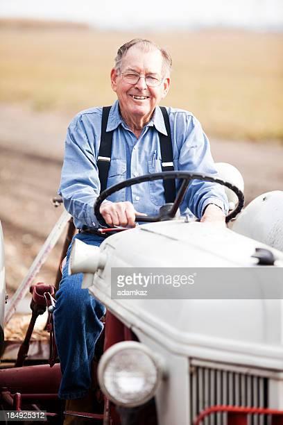 Real agriculteur sur Tracteur