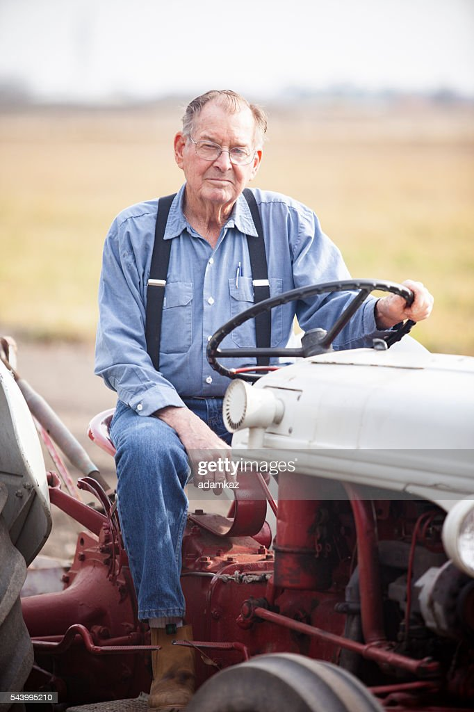 Real Farmer on Tractor