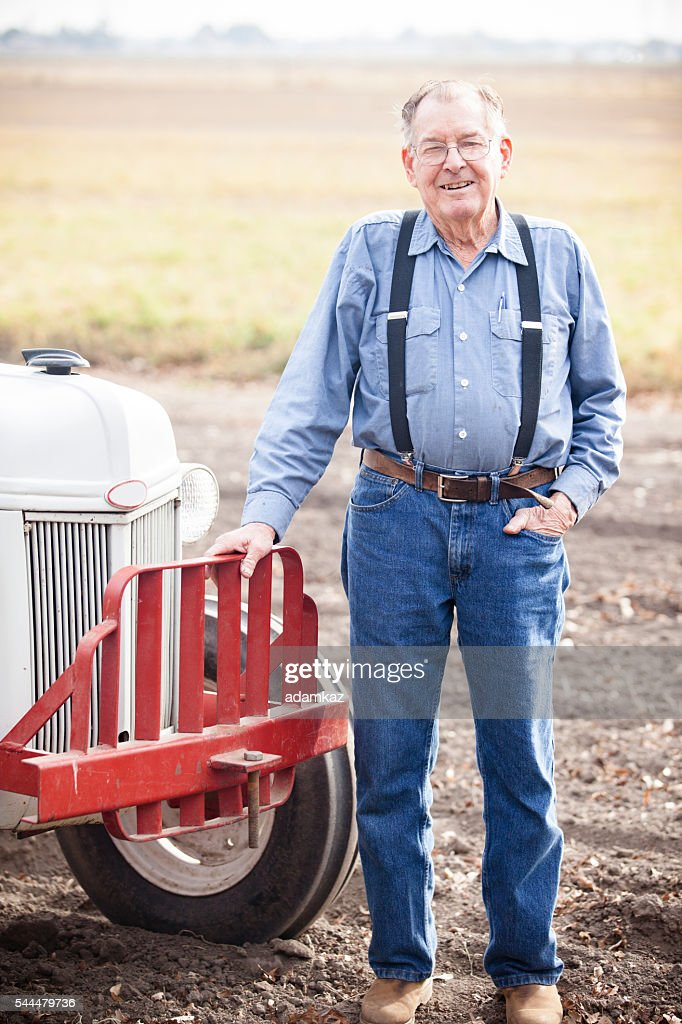Real Farmer with Tractor