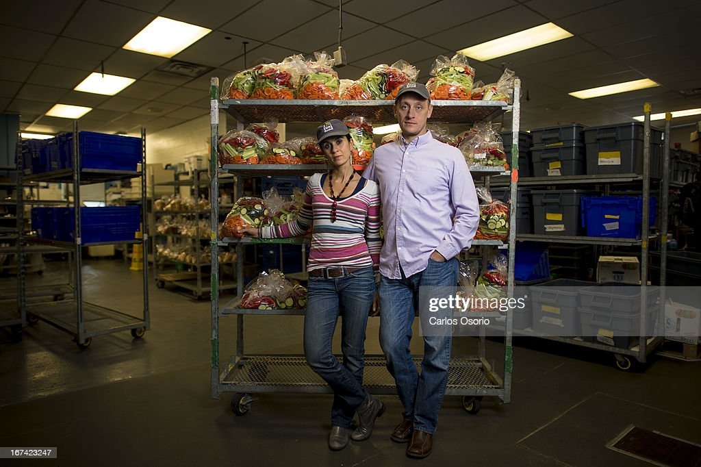Real Food for Real Kids owners (and married couple) (left) Lulu Cohen-Farnell and David Farnell. Real Food For Real Kids is a Toronto-based company that makes lunches for daycares and schools. They make real food from scratch every day, using whole foods from local farmers. They are in such hot demand, they've expanded and have also been key stakeholders in the new school lunch rules as well as the new local food initiatives. They've won the Toronto Environment Award for 2 years running. They received a notice from the CFIA (Food inspection agency) stating they can't use the words 'local' for their food, which comes from nearby farms, because 'local' is now defined as '50 km away.' There are no farms 50 km away from downtown Toronto and they can't use natural, because that now means taken directly from nature with no farming -- as in fishing, or mushroom picking.