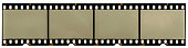 real high-res scan of an 35mm filmstrip on white background