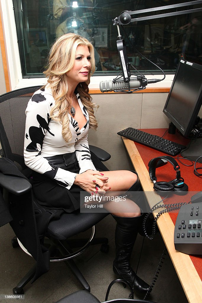 Real Housewife of Orange County Alexis Bellino is interviewed at SiriusXM Studios on February 9 2012 in New York City
