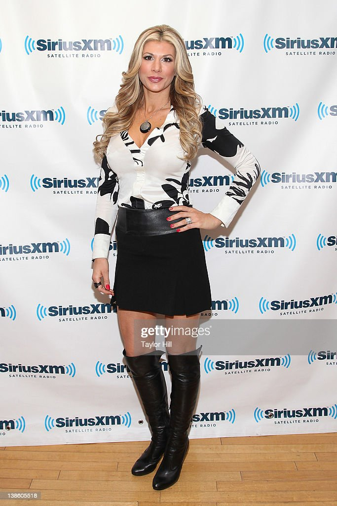 Real Housewife of Orange County Alexis Bellino visits SiriusXM Studios on February 9 2012 in New York City