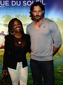 'Real Housewives of Atlanta' cast member Kandi Burruss and Joe Man ganiello of 'TEN' attend Cirque du Soleil TOTEM Premiere at Atlantic Station on...