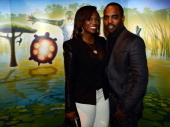 'Real Housewives of Atlanta' cast member Kandi Burruss and Todd Tucker attend Cirque du Soleil TOTEM Premiere at Atlantic Station on October 26 2012...