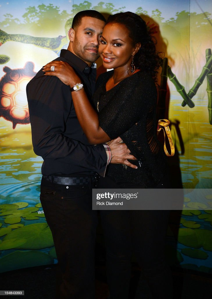 'Real Housewives of Atlanta' cast member Phaedra Parks (right) and Apollo Nida attend Cirque du Soleil TOTEM Premiere at Atlantic Station on October 26, 2012 in Atlanta, Georgia.