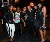 'Real Housewives of Atlanta' cast members Kandi Burruss Derek J Phaedra Apollo Nida Cynthia Bailey and Marlo Hampton attend Cirque du Soleil TOTEM...