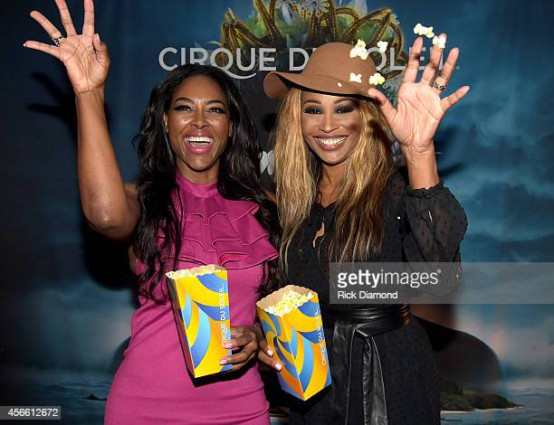 'Real Housewives of Atlanta' cast members Kenya Moore and Cynthia Bailey attend Amaluna opening night at the Big Top at Atlantic Station on October 3...