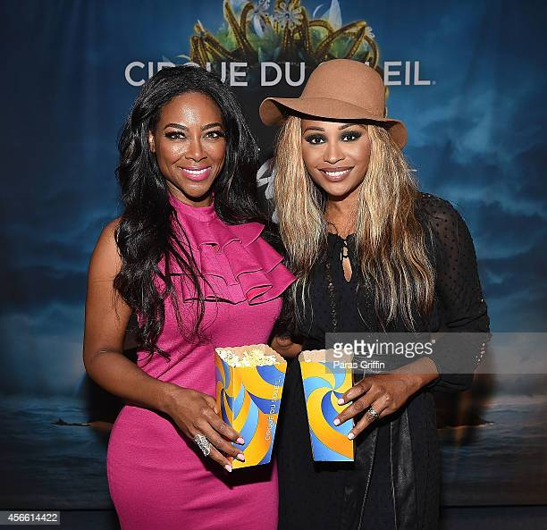 Real Housewives of Atlanta star Kenya Moore and Cynthia Bailey ttends the Atlanta premiere night of Cirque Du Soleil Amaluna at Atlantic Station on...