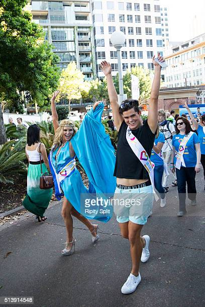 Real Housewives of Melbourne star Gamble Breaux at Mardi Gras on March 5 2016 in Sydney Australia