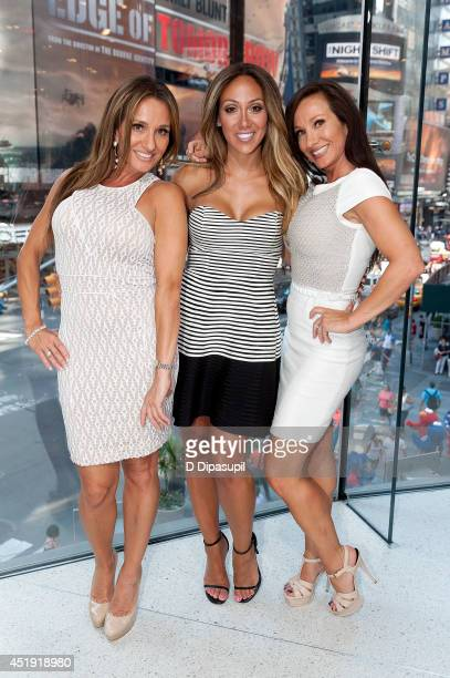 'Real Housewives of New Jersey' cast members Nicole Napolitano Melissa Gorga and Teresa Aprea visit 'Extra' at their New York studios at HM in Times...