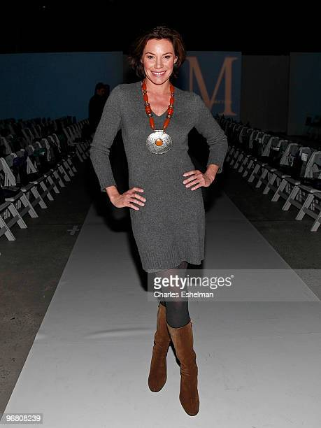 'Real Housewives of NYC' Countess LuAnn de Lesseps attends the Malan Breton Fall 2010 fashion show during MercedesBenz Fashion Week at Style360 on...