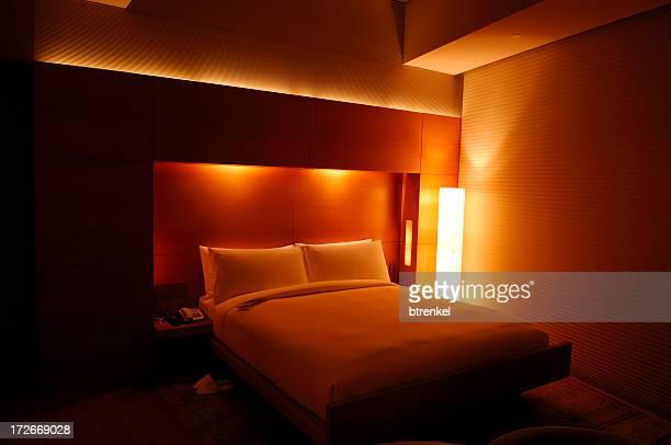 Echten Luxus-hotel-Zimmer – bei Nacht